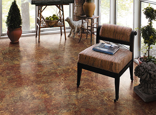 vinyl-flooring in sunroom